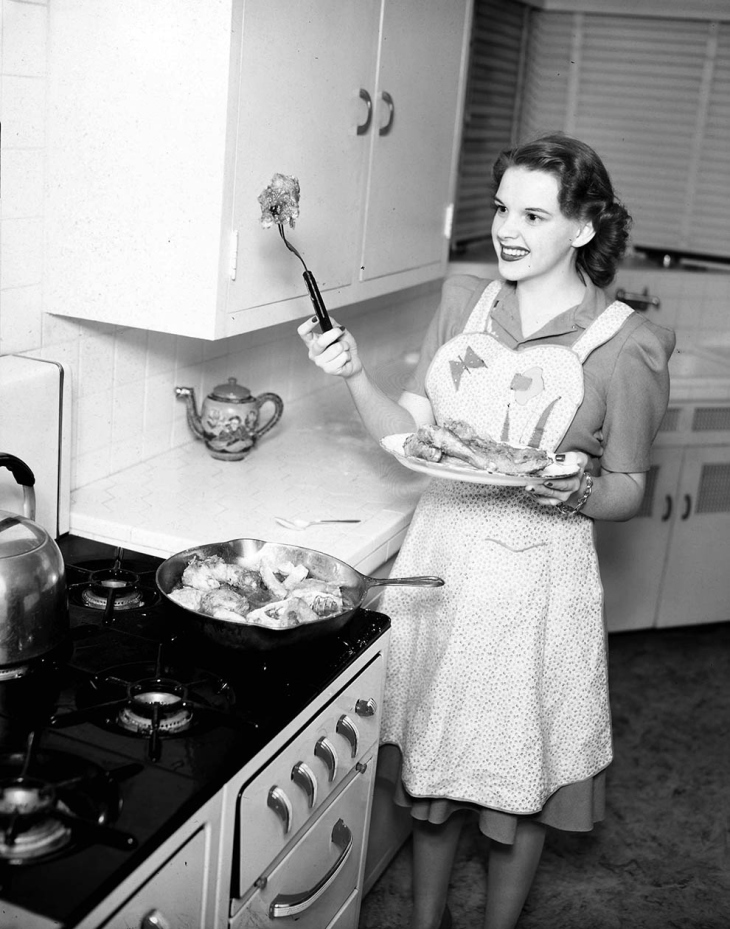 Judy Garland Cooking